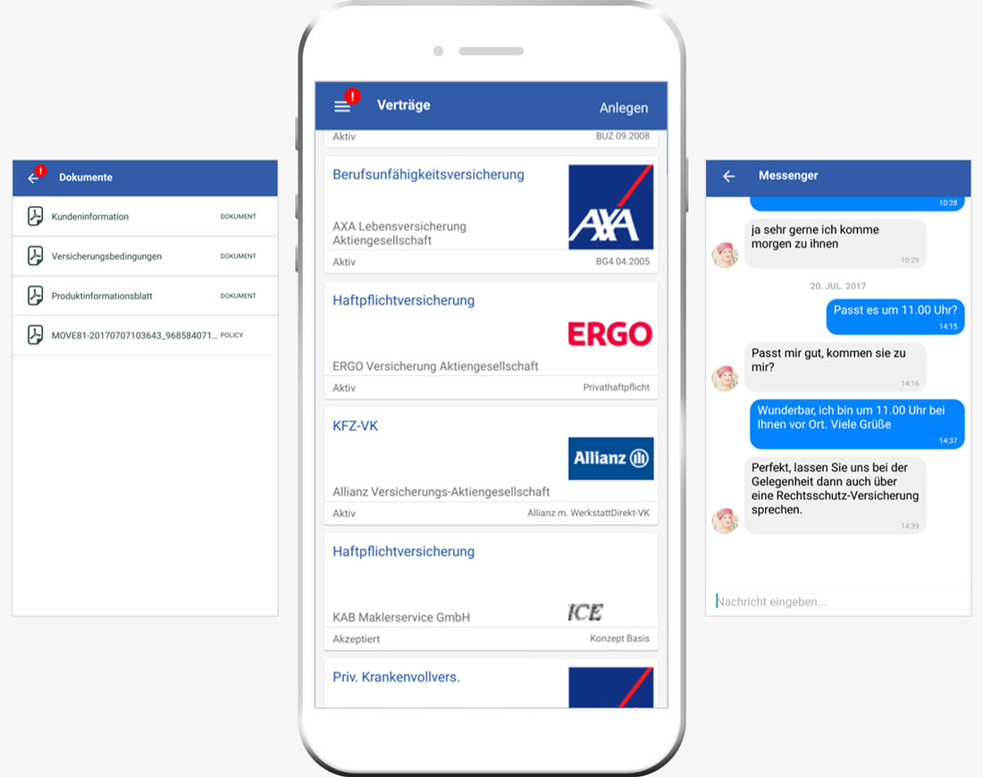 Mobilversichert Kunden-App
